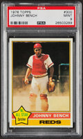 Baseball Cards:Singles (1970-Now), 1976 Topps Johnny Bench #300 PSA Mint 9. Offered i...