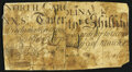 North Carolina March 9, 1754 20s Very Good