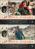 "Movie Posters:Academy Award Winners, Lawrence of Arabia (Columbia CEIAD, 1963). Folded, Fine. Italian Photobustas (2) (18.5"" X 26.5""). Academy Award Winners.. ... (Total: 2 Items)"