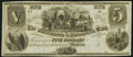 Obsoletes By State:Michigan, Monroe, MI- Merchants & Mechanics Bank of Monroe $5 18__ Remainder Choice About Uncirculated.. ...