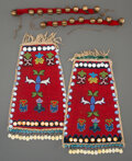 American Indian Art:Beadwork and Quillwork, A Pair of Northwest Coast Beaded Cloth Panels... (Total: 6 )