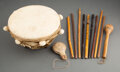 American Indian Art:Pipes, Tools, and Weapons, A Kiowa Water Drum and Drum Sticks... (Total: 13 )