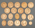 American Indian Art:Jewelry and Silverwork, Eighteen Peace Medals... (Total: 18 )