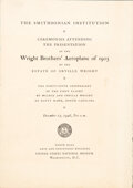 Explorers:Space Exploration, Wright Brothers' Aeroplane of 1903: Program from the Smith...