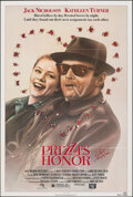 """Movie Posters:Comedy, Prizzi's Honor & Other Lot (20th Century Fox, 1985). Folded, Overall: Very Fine-. Autographed One Sheet & One Sheet (27"""" X 4... (Total: 2 Items)"""