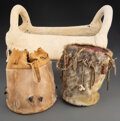 American Indian Art:Pipes, Tools, and Weapons, A Plateau Woman's Saddle and Two Sub-Arctic Bucket Bags