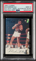 Boxing Cards:General, 1992 Classic World Class Athletes Muhammad Ali Autograph PSA Mint 9 - Hand Numbered 344/2500. ...