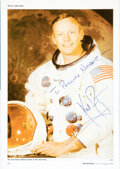 Explorers:Space Exploration, Neil Armstrong Signed Page in Spaceflight Magazine. ...