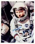 """Explorers:Space Exploration, Wally Schirra Signed Color Photo. An 8"""" x 10"""" prof..."""