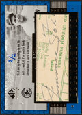 Baseball Cards:Singles (1970-Now), 2003 SP Legendary Cuts Jimmie Foxx Autograph #JF - Hand Numbered 2/2. ...