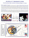 """Explorers:Space Exploration, Apollo 17 Crew-Signed """"Type Two Insurance"""" Cover #165, Can..."""