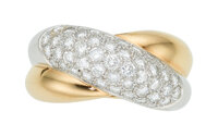 Diamond, Platinum, Gold Ring, Cartier, French