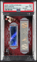 Baseball Cards:Singles (1970-Now), 2008 Topps Sterling Bob Gibson Moments Relics Quad Autograph #4SMA-37 PSA NM-MT 8 - Serial Numbered 1/10....