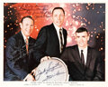 Explorers:Space Exploration, Apollo 13: Flight Crew-Signed Color Photo, with Zarelli LO...