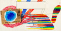 Works on Paper, James Rosenquist (1933-2017). Sketch for Miles, Near and Far, 1975. Mixed media on paper. 19-1/8 x 36-1/2 inches (48.6 x...
