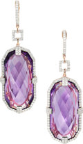 Estate Jewelry:Earrings, Amethyst, Diamond, Rose Gold Earrings, Michael Christoff. ... (Total: 0 Items)