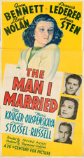 Movie Posters:War, The Man I Married (20th Century Fox, 1940). Folded, Fine+....