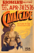 "Movie Posters:Academy Award Winners, Cavalcade (Fox, 1933). Fine+. Window Card (14"" X 22"").. ..."