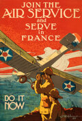 """Movie Posters:War, World War I Propaganda (U.S. Government, 1917). Very Fine-. Full-Bleed Recruitment Poster (25"""" X 37"""") """"Join the Air Service ..."""