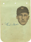 "Autographs:Photos, Carl Hubbell and ""Goose"" Goslin Autographs Lot of 2. A single page from an autograph book with Hall of Famers Carl Hubbell ..."