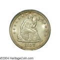 Seated Quarters: , 1857 25C MS66 PCGS. The consignor of this coin obviously ...