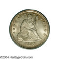 Seated Quarters: , 1858 25C MS65 PCGS. A fully original, Gem example. Each ...