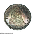 Seated Quarters: , 1876-CC 25C MS66 PCGS. Produced in record numbers (4.9 ...
