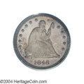 Proof Seated Quarters: , 1846 25C PR64 PCGS. Approximately ten to twelve proofs of ...