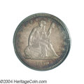 Proof Seated Quarters: , 1859 25C PR64 PCGS. Although Mint records indicate that ...