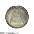Proof Seated Quarters: , 1862 25C PR65 Cameo PCGS. Of the 550 proofs struck for ...