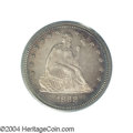 Proof Seated Quarters: , 1868 25C PR65 PCGS. The Philadelphia Mint's low output of ...