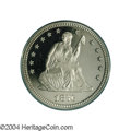 Proof Seated Quarters: , 1876 25C PR66 Deep Cameo PCGS. While not a rare date in ...