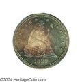 Proof Seated Quarters: , 1880 25C PR65 PCGS. Deeply toned on the obverse by ...