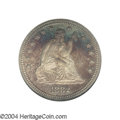 Proof Seated Quarters: , 1882 25C PR67 NGC. Noticeably cameoed with reddish-gold ...