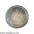 Proof Seated Quarters: , 1888 25C PR67 PCGS. This deeply mirrored example is ...