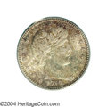 Barber Quarters: , 1910 25C MS64 PCGS. The surfaces are decorated by ...
