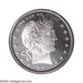 Proof Barber Quarters: , 1893 25C PR68 Cameo NGC. The frosty devices offer obvious ...