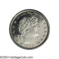 Proof Barber Quarters: , 1894 25C PR65 PCGS. An upper-end example of this early ...