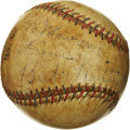 Autographs:Baseballs, Babe Ruth Single Signed Baseball. The Babe ventures from hiscustomary sweet spot position in order to pen a personalizatio...