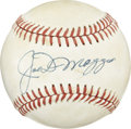 Autographs:Baseballs, Joe DiMaggio Single Signed Baseball. The ONL (Giamatti) baseballhas the perfectly placed signature of one of the greatest ...