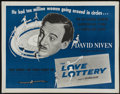 "Movie Posters:Comedy, The Love Lottery (Continental, 1956). Half Sheet (22"" X 28""). Comedy...."