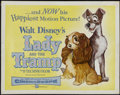 "Movie Posters:Animated, Lady and the Tramp (Buena Vista, 1955). Half Sheet (22"" X 28"").Animated...."