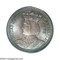 1893 25C Isabella Quarter MS67 PCGS. Rich sea-green and electric-blue colors endow the obverse field, while the portrait...