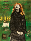 """Movie Posters:Foreign, Jules and Jim (Les Films du Carrosse, 1961). Folded, Very Fine. Full-Bleed French Grande (46"""" X 62"""") Christian Brouti..."""