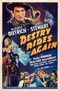 """Movie Posters:Western, Destry Rides Again (Universal, 1939). Folded, Very Fine. One Sheet (27"""" X 41"""") Style B. . ..."""