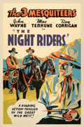 "Movie Posters:Western, The Night Riders (Republic, 1939). Fine+ on Linen. Silk Screen Poster (40"" X 60"").. ..."