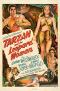 """Movie Posters:Adventure, Tarzan and the Leopard Woman (RKO, 1946). Fine/Very Fine on Linen. One Sheet (27"""" X 41""""). From the Theaters of Old..."""