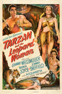 """Tarzan and the Leopard Woman (RKO, 1946). Fine/Very Fine on Linen. One Sheet (27"""" X 41""""). From the Theaters of..."""
