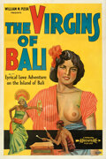 "Movie Posters:Documentary, The Virgins of Bali (Principle Pictures, 1932). Very Fine- on Linen. One Sheet (27"" X 41""). Theaters of Old Detroi..."