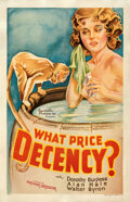 Movie Posters:Exploitation, What Price Decency (Equitable, 1933). Fine+ on Linen.